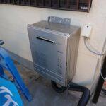 【新品給湯器】本住宅のガスはプロパンガスです。ガス給湯器は新品へと交換します。こういった細かい部分まで気を配ってリフォームしていきます。(内装)